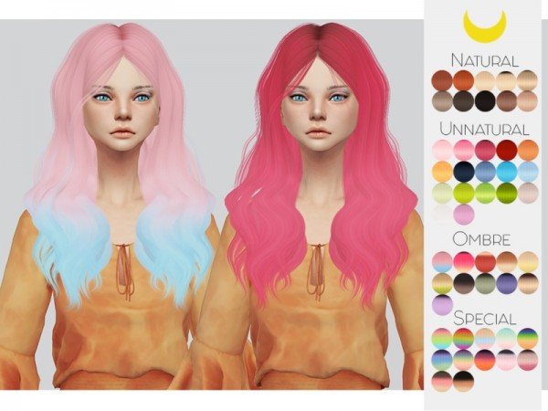 The Sims Resource: LeahLillith`s Rogue hair retextured by Kalewa a for Sims 4