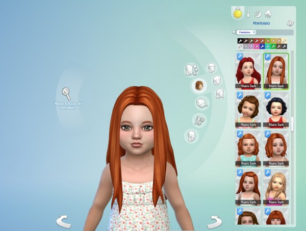 Mystufforigin: Liliana Hair for Toddlers for Sims 4