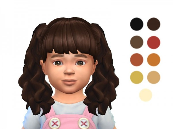 Sims 4 Hairs The Sims Resource Toddler Long Curly