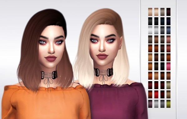 Frost Sims 4: Simpliciaty`s Sunshine hair retextured for Sims 4