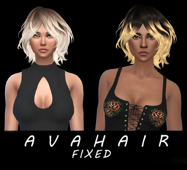 Leo 4 Sims: Ava hair fixed for Sims 4