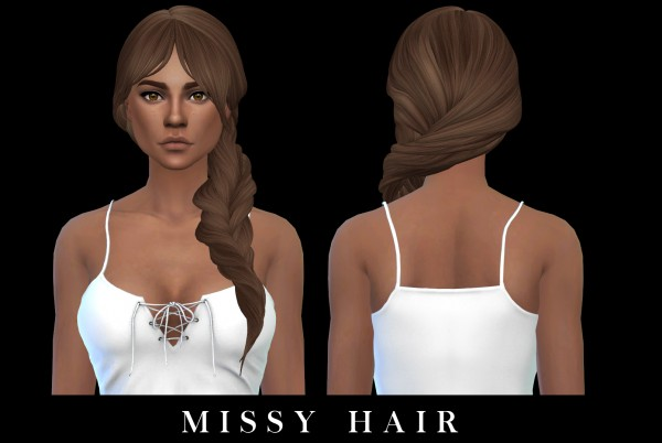 Leo 4 Sims: Missy hair 2 recolored for Sims 4