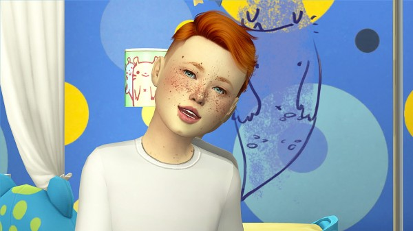 Coupure Electrique: Anto`s Antreus hair retextured kids and toddlers version for Sims 4