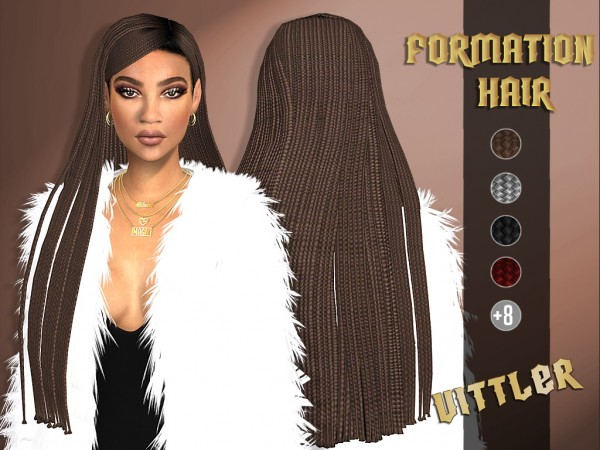 Vittleruniverse: Formation Hair for Sims 4
