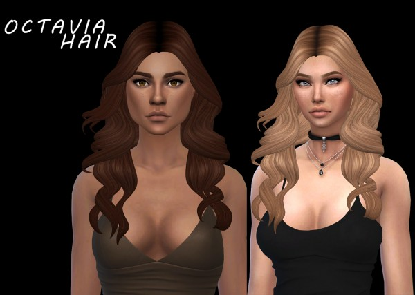 Leo 4 Sims: Octavia hair recolored for Sims 4
