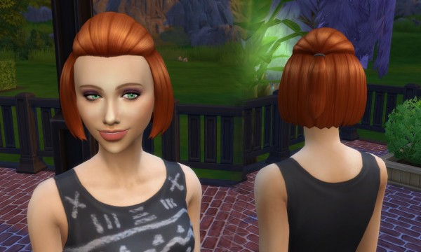 Mystufforigin: Lucy hair retextured for Sims 4