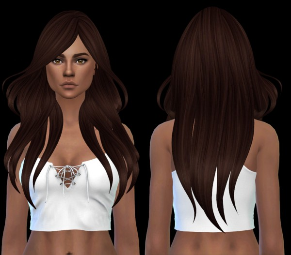 Leo 4 Sims: Blowing Hair recolored for Sims 4