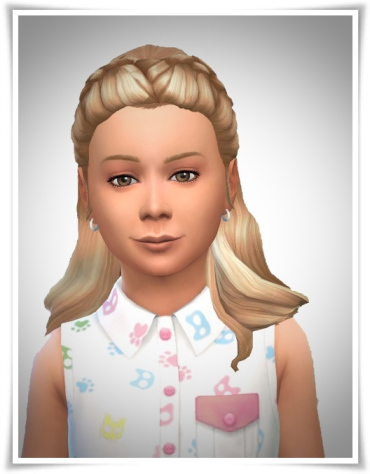 Birksches sims blog: Girls Braided Forehead Hair for Sims 4