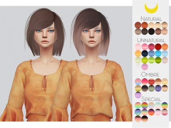 The Sims Resource: LeahLillith`s Katuma hair retextured by kalewa for Sims 4