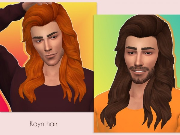 The Sims Resource: Kayn hair retextured by MerakiSims for Sims 4