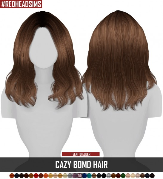 Coupure Electrique: Cazy`s BoMD hair retextured for Sims 4