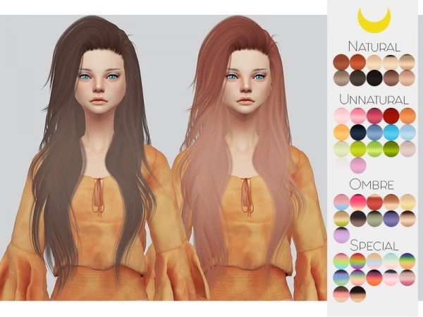 The Sims Resource: LeahLillith`s Stargirl hair retextured by kalewa a for Sims 4