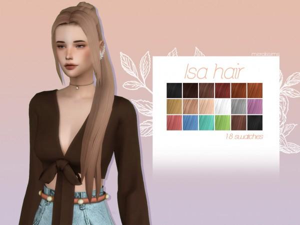 Merakisims: Isa hair for Sims 4