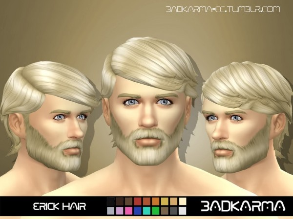 The Sims Resource: Erick Hair retextured by BADKARMA for Sims 4