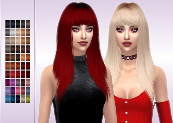 Frost Sims 4: LeahLillith`s Monster Hair Retextured for Sims 4