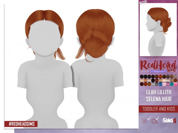 Coupure Electrique: LeahLillith`s Selena hair retetured   kids and toddlers version for Sims 4