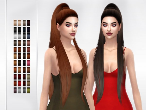 Frost Sims 4: Ade` Dangerous hair retextured for Sims 4