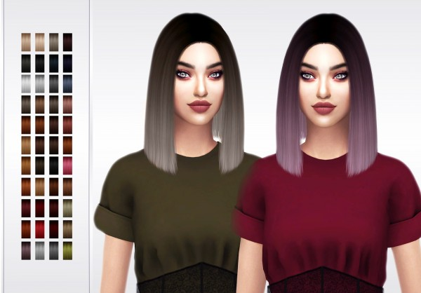 Frost Sims 4: Simpliciaty`s Bodak hair retextured for Sims 4