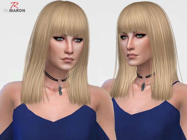 The Sims Resource: BOOMBAYAH  hair retextured by remaron for Sims 4