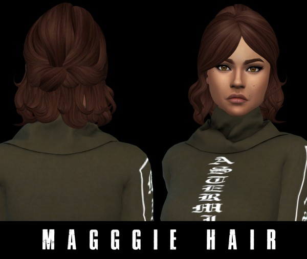 Leo 4 Sims: Maggie Hair for Sims 4