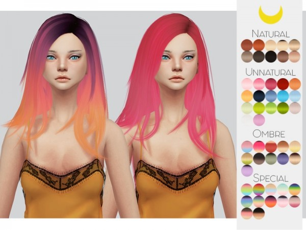 The Sims Resource: Stealthic`s Runaway hair retextured by Kalewa a for Sims 4
