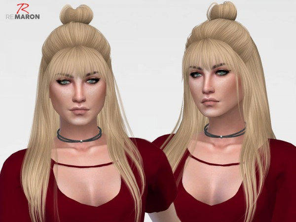 The Sims Resource: Dust Cloudy hair retextured by remaron for Sims 4