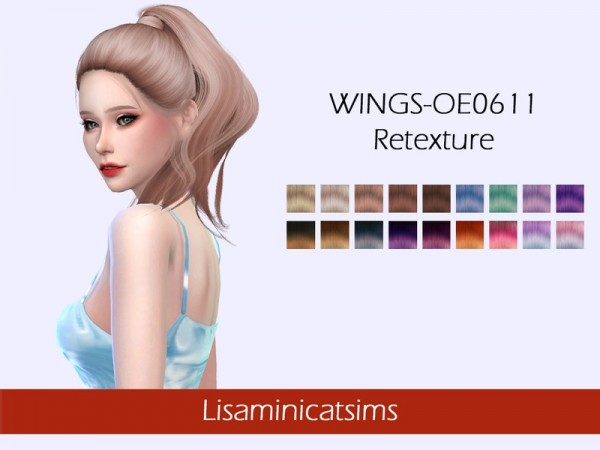 The Sims Resource: WINGS OE0611 Hair Retextured by Lisaminicatsims for Sims 4