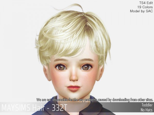 MAY Sims: May Hair 332T for Sims 4