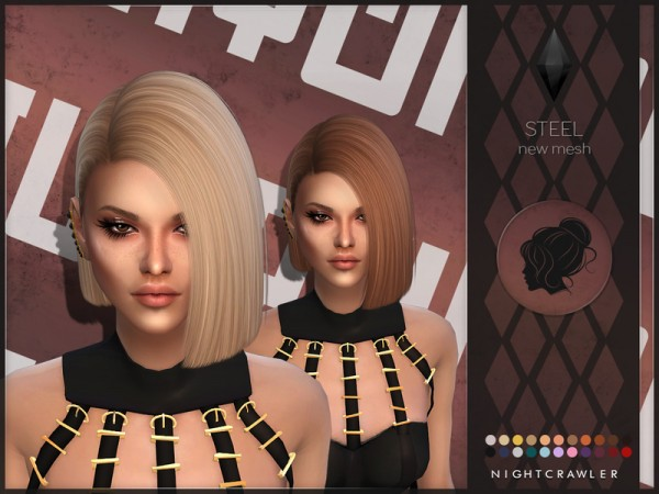 The Sims Resource: Steel hair by Nightcrawler Sims for Sims 4