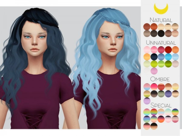 The Sims Resource: Stealthic`s Genesis hair retextured by Kalewa a for Sims 4
