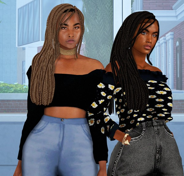 Coupure Electrique: Diva hair for Sims 4