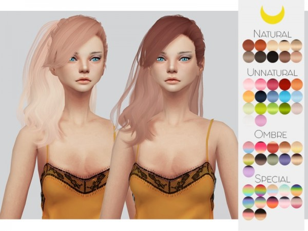 The Sims Resource: Stealthic`s Daughter hair retextured by kalewa a for Sims 4