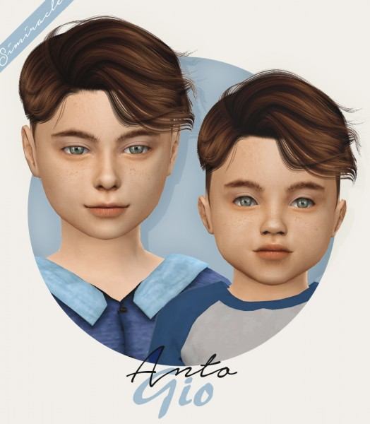 Simiracle: Anto`s Gio hair retextured for Sims 4