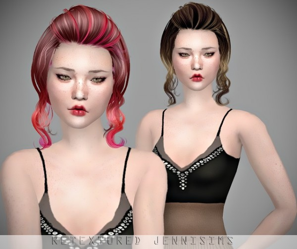 Jenni Sims: Newsea`s Candice Hair retextured for Sims 4