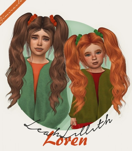 Simiracle: LeahLillith`s Loren hair retextured for Sims 4