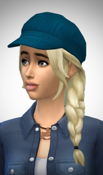 Birksches sims blog: Chrissy's and Christian's SideBraid for Sims 4
