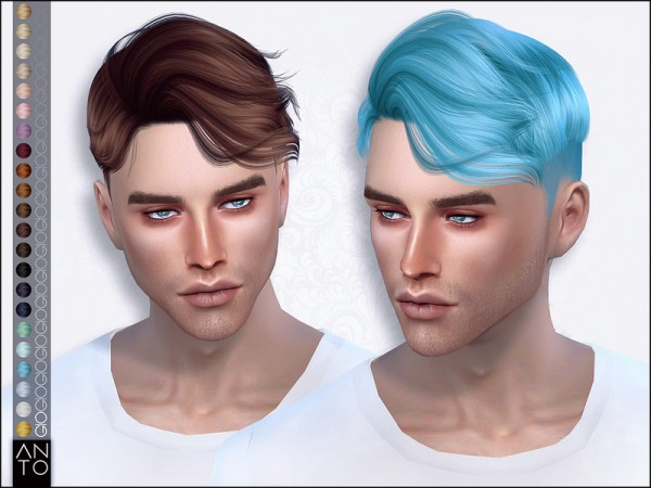 The Sims Resource: Gio hair by Anto for Sims 4