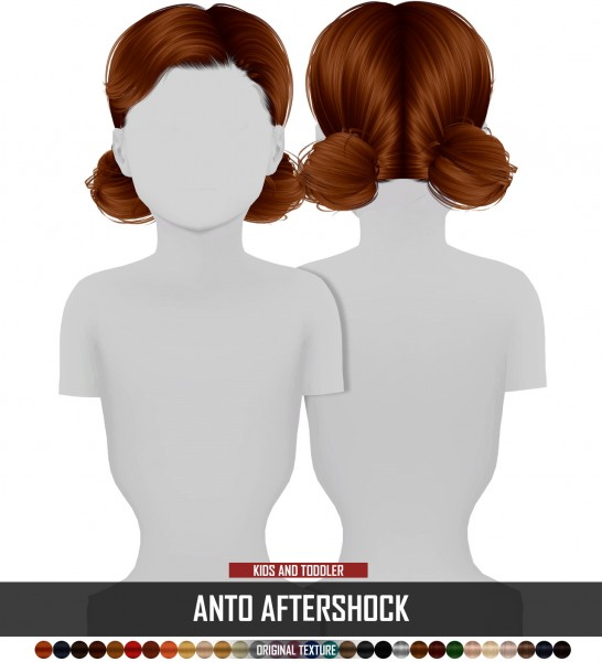 Coupure Electrique: Anto`s Aftershock hair retextured kids version for Sims 4