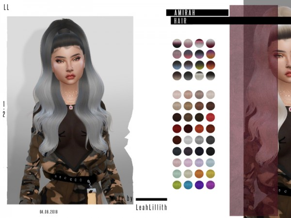 The Sims Resource: Amirah Hair by Leah Lillith for Sims 4
