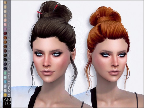 The Sims Resource: Maisie hair by Anto for Sims 4