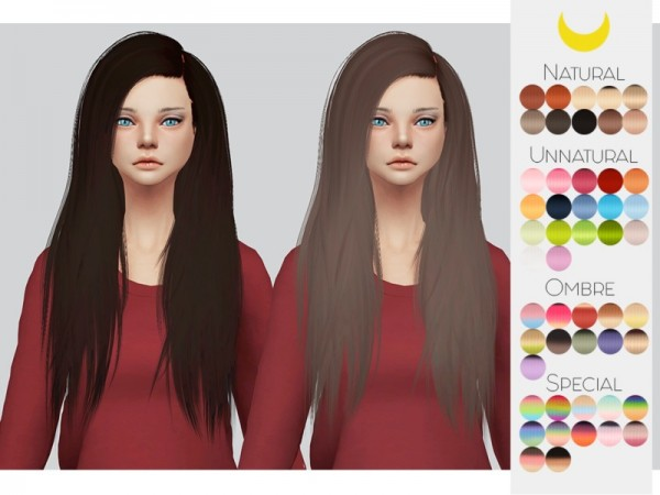 The Sims Resource: Stealthic`s Misery hair retextured by kalewa a for Sims 4