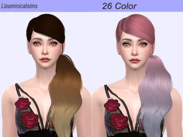 The Sims Resource: LeahLillith`s No Tears Left Ombre Hair Retextured by for Sims 4