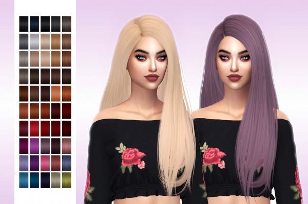 Frost Sims 4: Simpliciaty`s Melody hair retextured for Sims 4