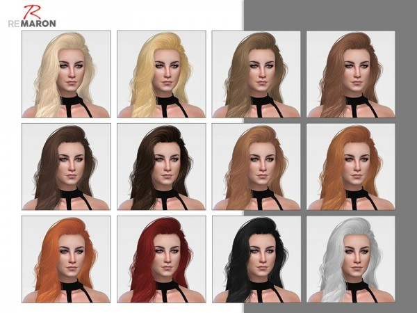 The Sims Resource: Eternity hair retextured by remaron for Sims 4