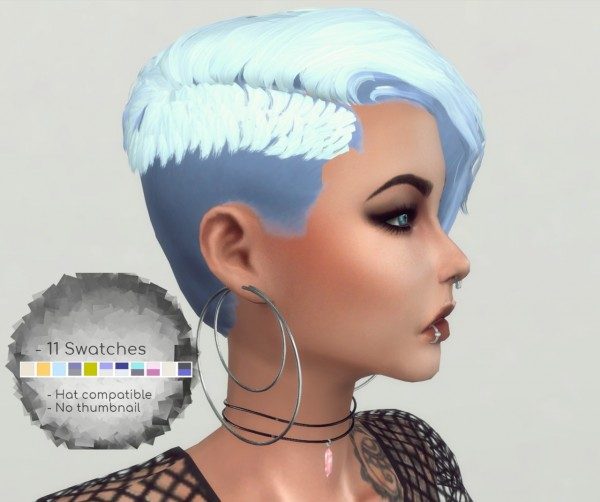 Players Wonderland: Cora Hair Converted for Sims 4