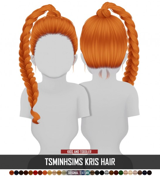 Coupure Electrique: Tsminh`s Kris hair retextured   kids and toddlers versions for Sims 4