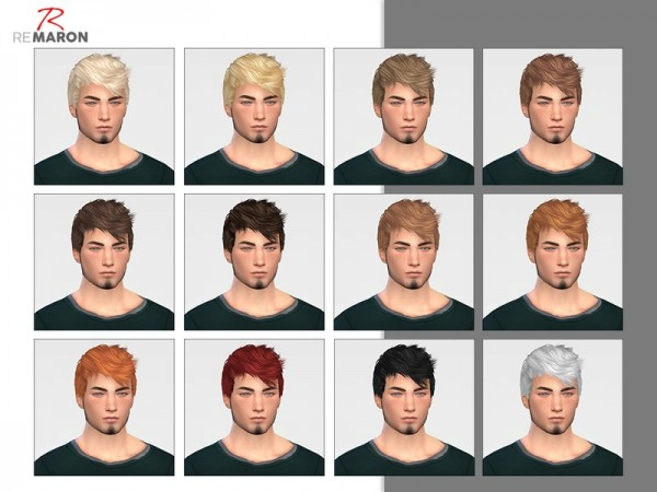 The Sims Resource: Persona hair retextured by remaron for Sims 4