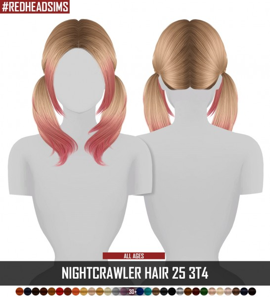 Coupure Electrique: Nightcrawler`s Coco 25 hair retextured for Sims 4
