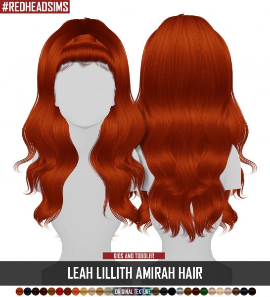Coupure Electrique: LeahLillith`s Amirah Hair retextured   kids and toddlers versions for Sims 4