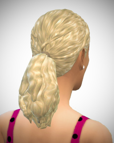 Birksches sims blog: Thickwavy Ponytail hair for Sims 4